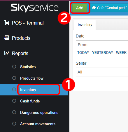 How to recount, inventory SkyService POS